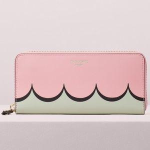 Kate Spade Continental Intarsia Scallop Wallet